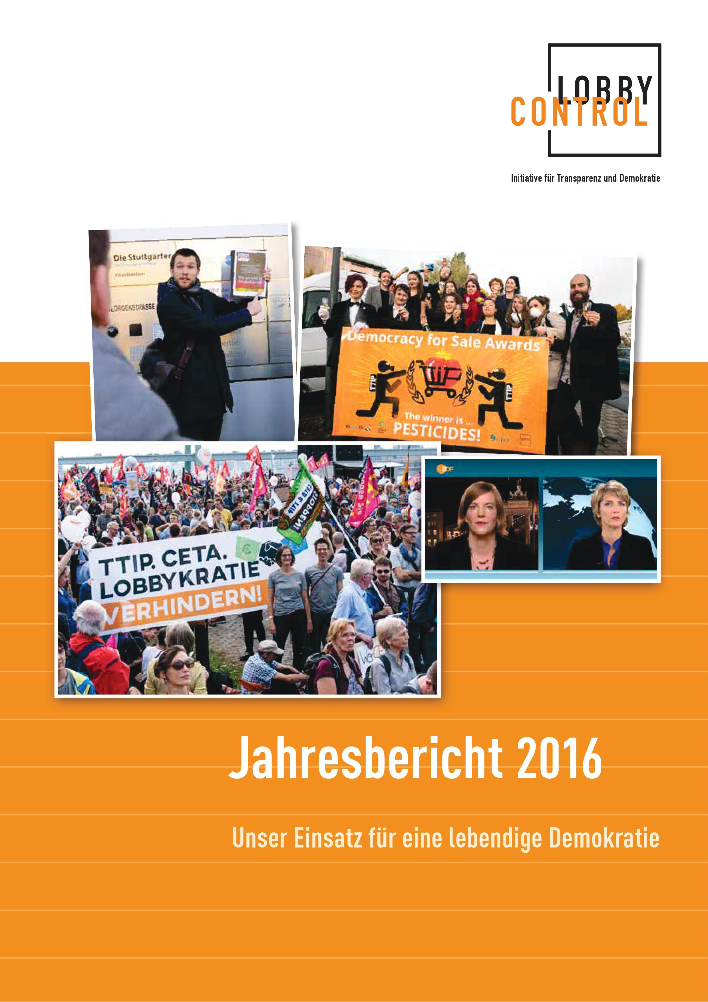 Jahresbericht 2016 von LobbyControl