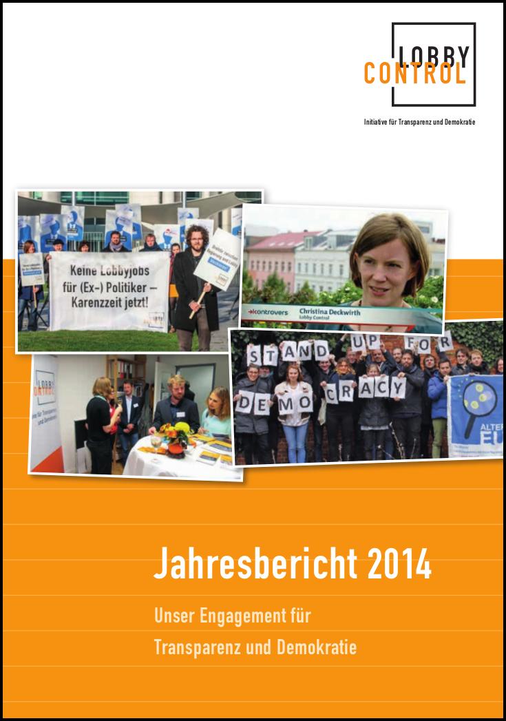 Jahresbericht 2014 von LobbyControl