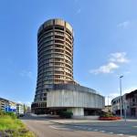 Das Bild zeigt die Bank für Internationalen Zahlungsausgleich in Basel. Dort hat der Basler Ausschuss seinen Sitz.
