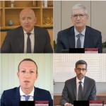 CEOs von Amazon, Apple, Facebook und Google bei Kongress-Anhörung, Juli 2020