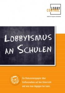 Diskussionspapier Lobbyismus an Schulen