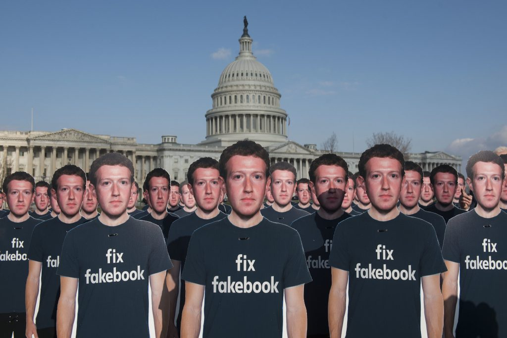 Protest-Aktion gegen Facebook in Washington, April 2018