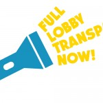 Das Bild zeigt das englische Kampagnenlogo unserer Kampagne für ein verpflichtendes Lobbyregister.