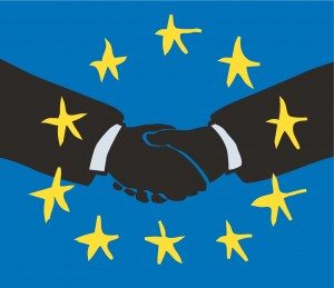 Händedruck EU-Portal