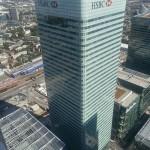 Das Bild zeigt die Zentrale von HSBC in London.