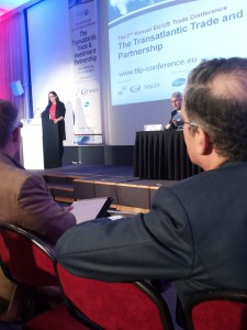 Cecilia Malmström bei der TTIP-Konferenz von Forum Europe