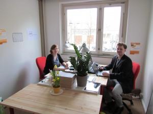 Ein Blick ins Berliner Büro