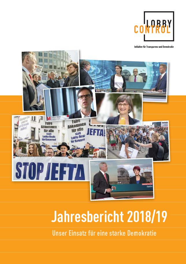 Jahresbericht 2018/19 LobbyControl