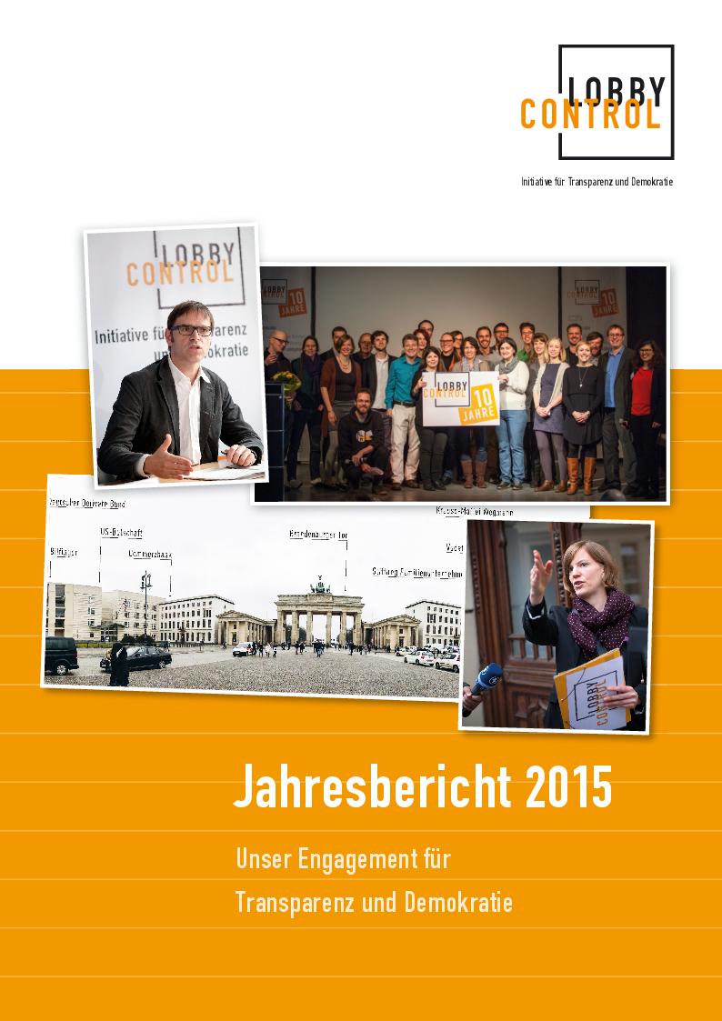 Jahresbericht 2015 von LobbyControl
