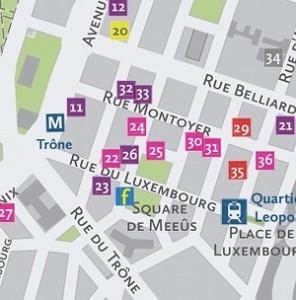 Lobbyplanet-Stadtplan mit Fleishman-Hillard in der Mitte