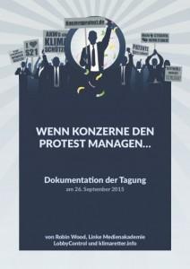 """Cover der Broschüre """"Wenn Konzerne den Protest managen"""""""
