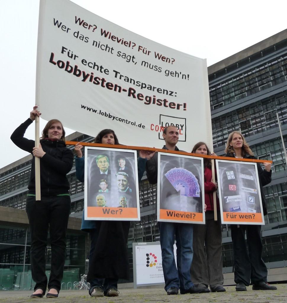 Aktion für ein Lobbyregister