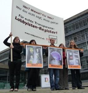 Aktion für Lobby-Appell 2009