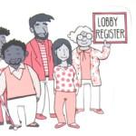 Bürger demonstrieren für ein Lobbyregister