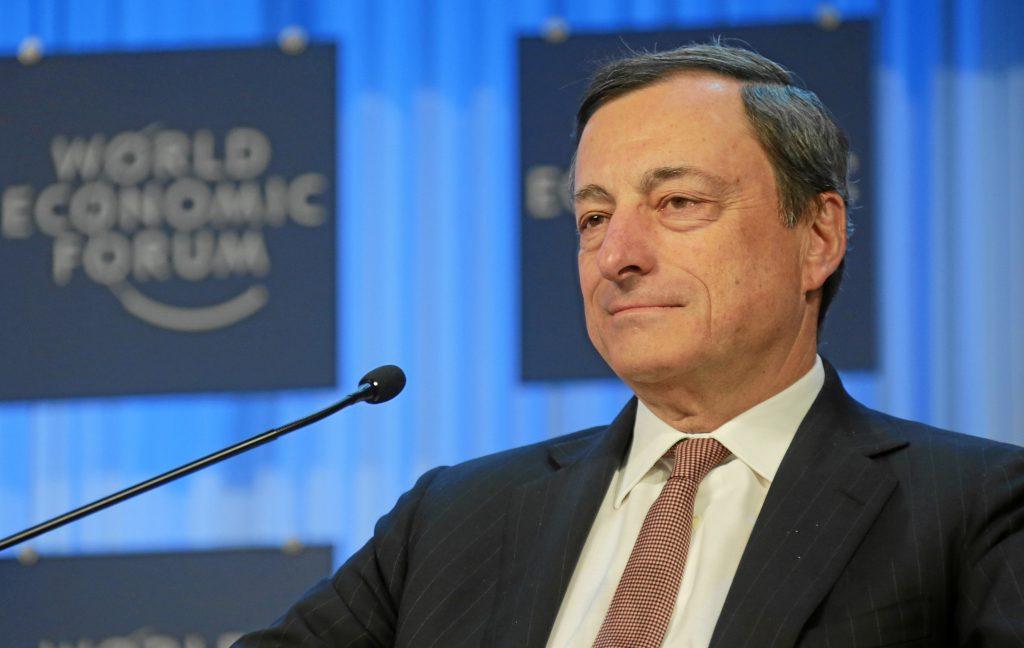 EZB-Chef Mario Draghi beim World Economic Forum (WEF) 2013 in Davos. Quelle: Wikimedia Commons.