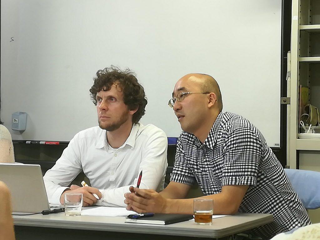 Max Bank von LobbyControl beim Vortrag zu JEFTA in Tokio in den Räumlichkeiten unserer Bündnispartner vom Pacific Asia Resource Center (PARC).