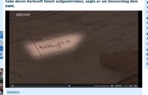 Meldeformular von Fuchs im SWR-Beitrag vom 10. Januar 2013