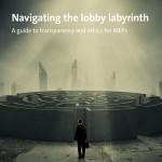 Das Foto zeigt das Cover unseres Ethik-Leitfadens für EU-Parlamentarier.