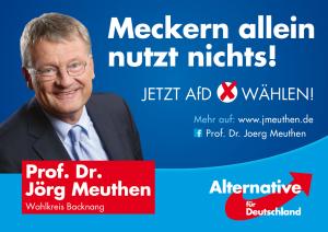 Plakat der Goal AG fuer Meuthen 2016, Quelle jmeuthen.de