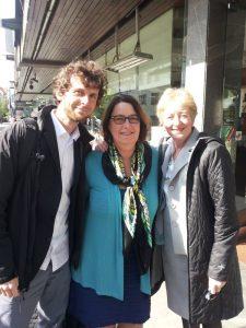 Von links nach rechts: Max Bank, Sharon Treat und Maude Barlow während der Speakers' Tour.