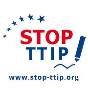 Das Bild zeigt das Logo der Europäischen Bürgerinitiative gegen TTIP und CETA, die LobbyControl unterstützt.