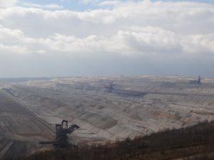 Braunkohle-Abbau im Tagebau Hambach