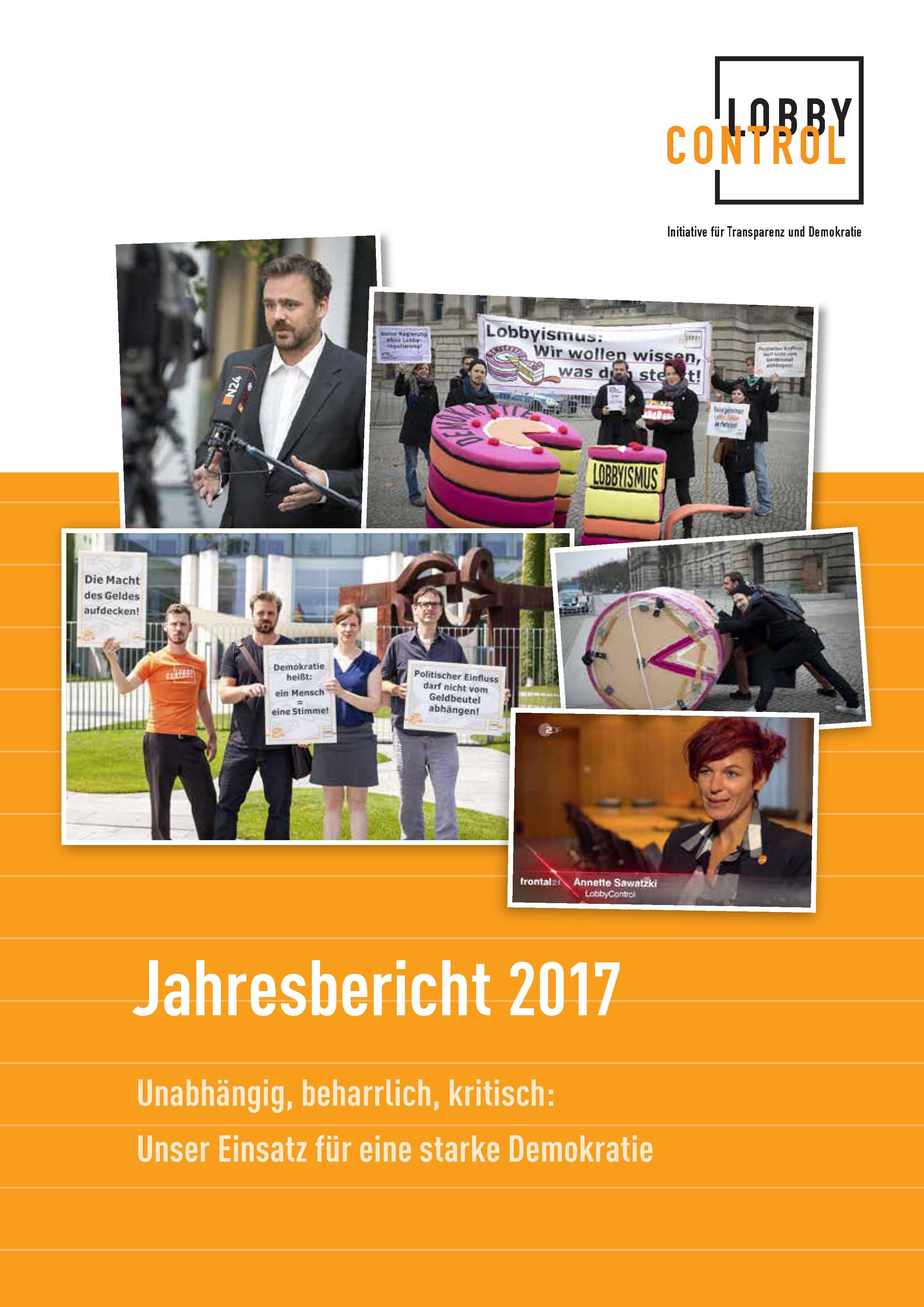 Jahresbericht 2017 von LobbyControl