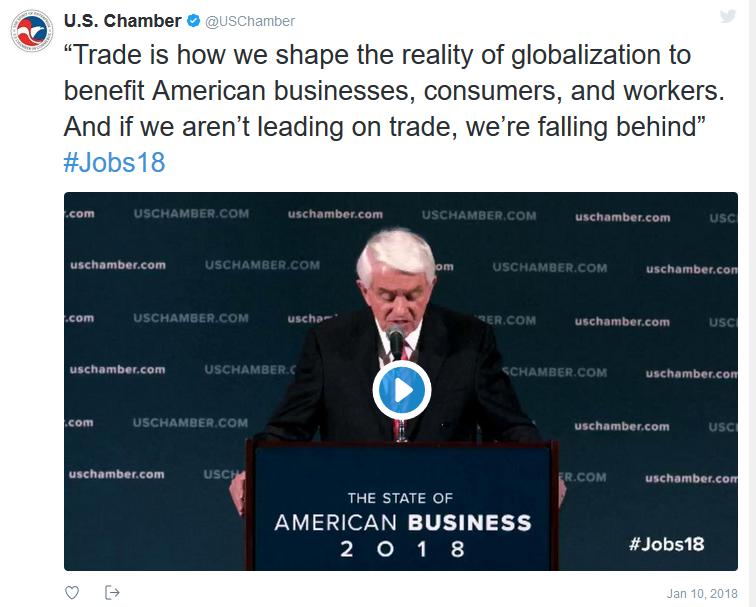 t der US-Handelskammer zur Neujahrsrede des Präsidenten.