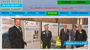 Unser Revier und RDB beim Braunkohletag 2015, Bildschirmfoto