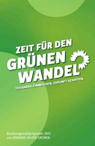 Wahlprogramm Grüne