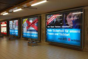 Pro-AfD-Wahlplakte in Köln, Mai 2017
