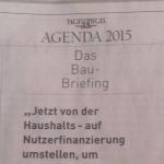 Briefing-Anzeigen im Tagesspiegel