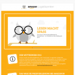 """Screenshot von der Webseite des Wettbewerbes von Amazon """"Lesen macht Spaß!"""""""