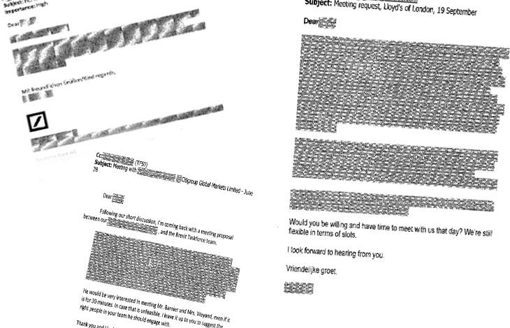 Geschwärzte Passagen in einer Anfrage im Rahmen des Informationsfreiheitsgesetzes.
