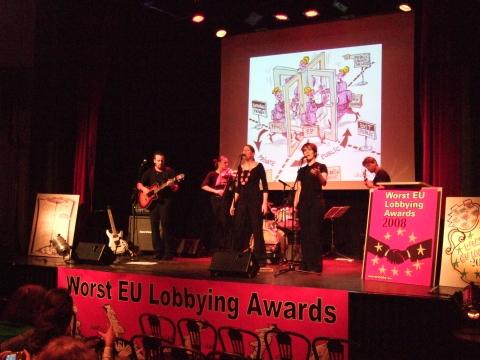 Preisverleihung der Worst EU Lobbying Awards 2008