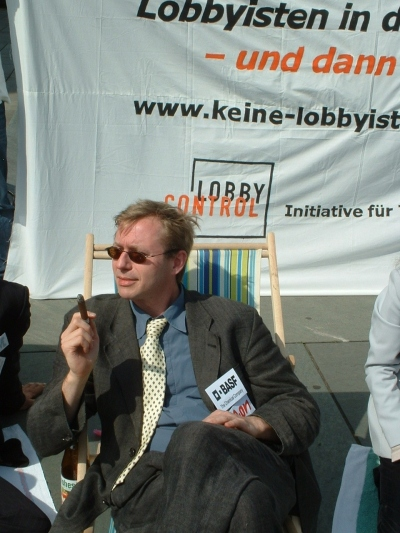 Foto3 von der Aktion Keine Lobbyisten in Ministerien am 26. Juli 2007