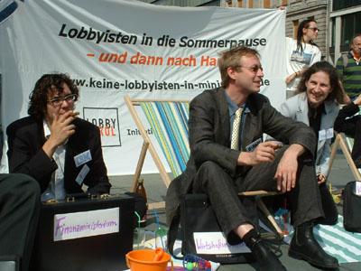Foto4 von der Aktion Keine Lobbyisten in Ministerien am 26. Juli 2007