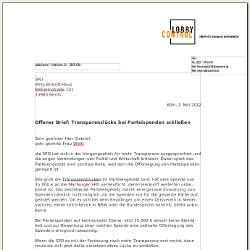 Offener Brief Transparenzlücke Bei Parteispenden Schließen
