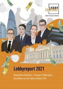 Titelbild Lobbyreport 2021 mit Illustration