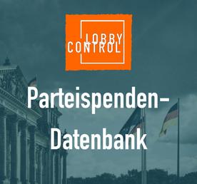 Unsere Parteispendendatenbank ist online.