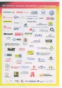 FDP dankt ihren Sponsoren; größere Auflösung mit Klick aufs Bild