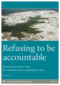 Cover der Studie Refusing to be accountable