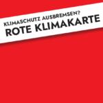 Rote Klimakarte - Vorderseite