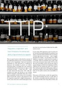 "Neue Broschüre ""TTIP: Covert attacks on democracy and regulation"""