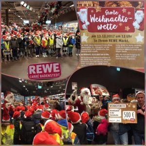 Weihnachtswette: REWE-Markt wirbt mit Zweitklässlern