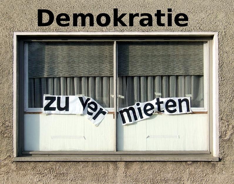 Demokratie zu vermieten