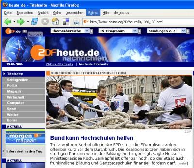 INSM-Foto auf der ZDFheute-Webseite