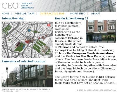 Screenshot der Webseite www.eulobbytours.org